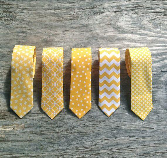Men's Yellow Tie  Yellow Wedding  Yellow Groomsmen by littlevys, $26.00