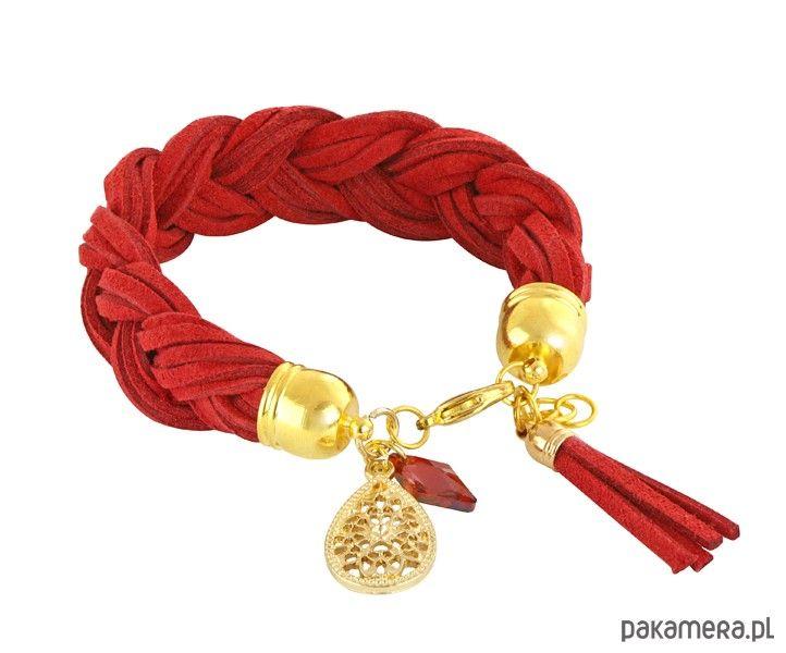 Braid - red & gold. - bransoletki - inne - Pakamera.pl