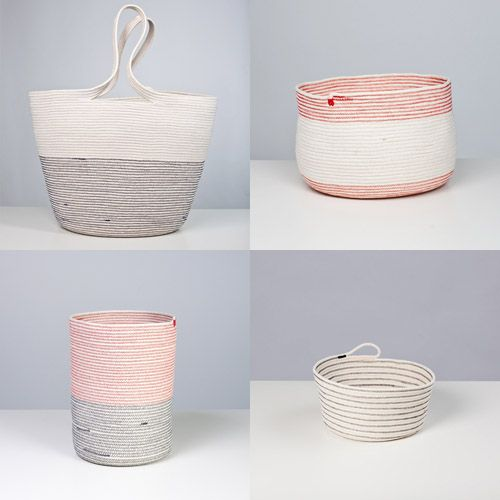 OBSESSED with these beautiful cotton rope baskets! From Studio Tour: Doug Johnston #studiotour