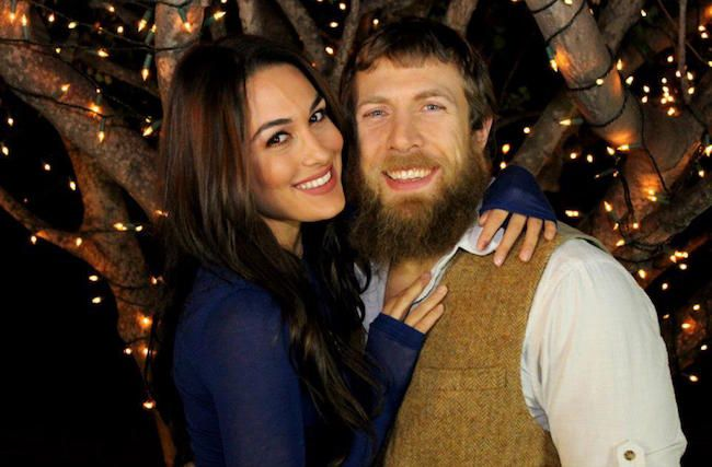 WWE wrestler, Daniel Bryan and his Diva wife, Brie Bella...