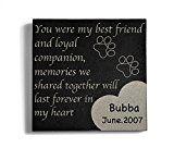 Personalized Memorial Pet Headstone Customized - Best Friend - 6 x 6 Granite