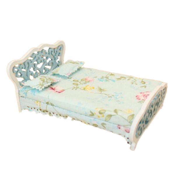 Find More Doll Houses Information about New 1/12 Dollhouse Miniature Furniture bedroom carved bed princess bed Light blue,High Quality miniature dollhouse lighting,China dollhouse miniature lighting Suppliers, Cheap miniature dollhouse from Beautiful Marie Store on Aliexpress.com