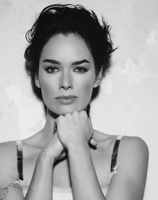 Lena Headey (she looks so different with dark hair!)