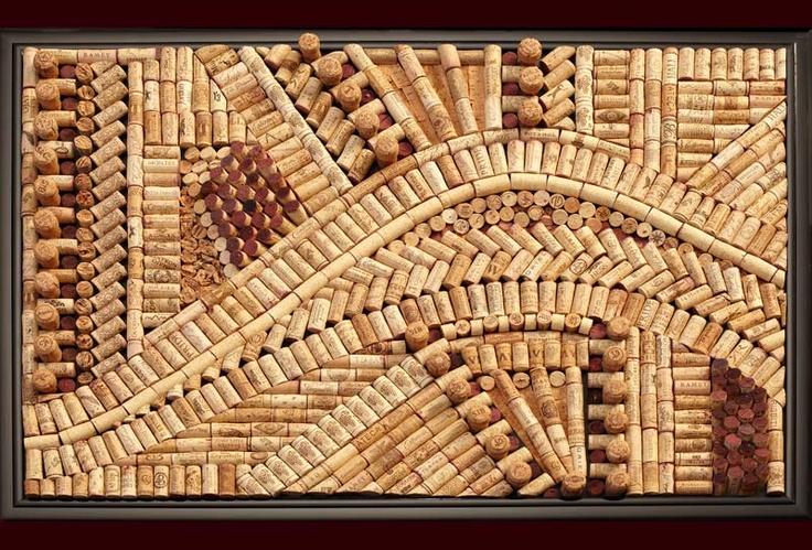 Wine cork artwork