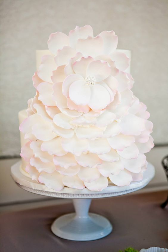 Wedding cake idea; Featured Cake: VG Donut and Bakery