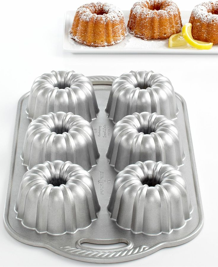 Nordic Ware Anniversary 6 Cavity Mini Bundt Pan - Cookware - Kitchen - Macy's $36
