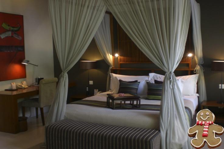 Comfortable, air conditioned bedrooms at Lakshmi Villas