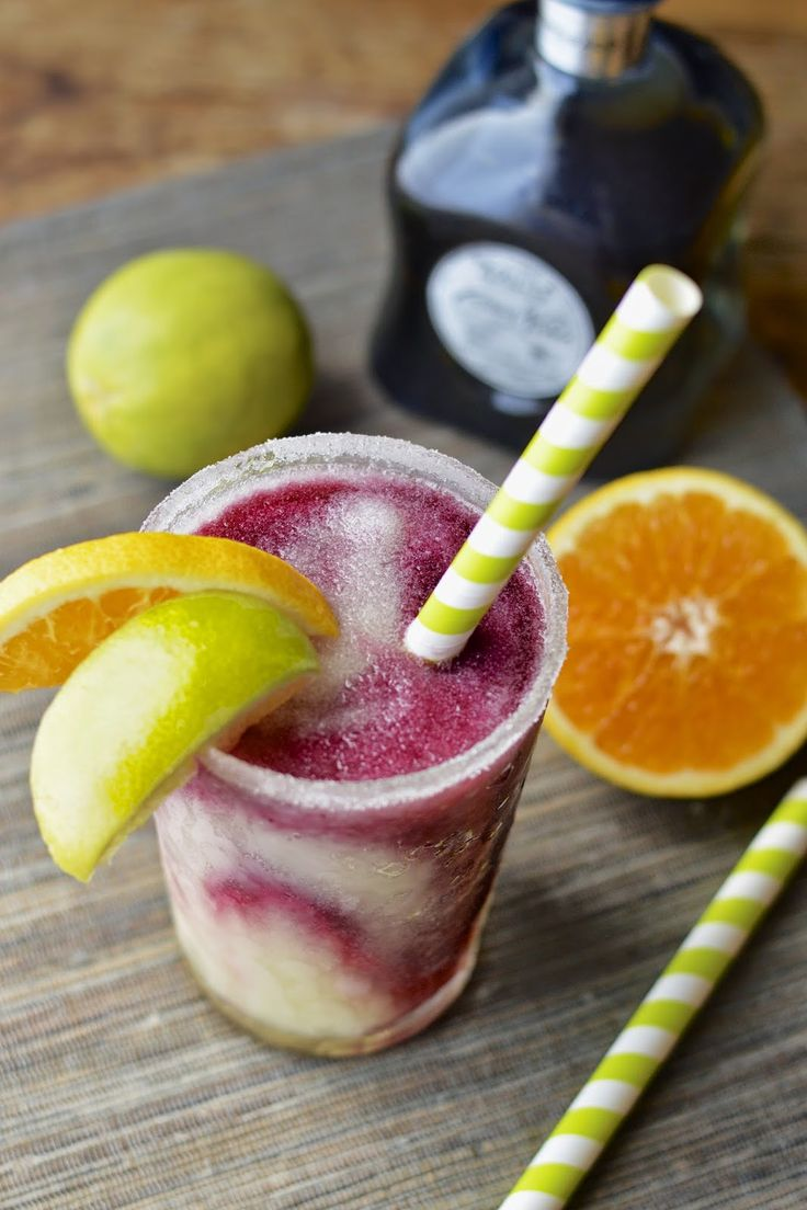 Lime Margaritas with a Sangria Swirl