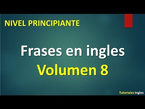 Frases básicas en inglés principiantes English Basic 3 - YouTube