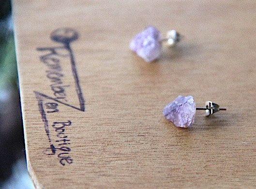 GENUINE Amethyst Earrings Healing Crystal Natural Stone Yoga Jewelry healing jewelry healing bracelet fluorite jewelry positive energy