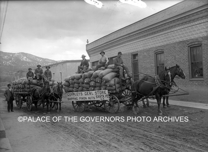 #VintageSantaFe  Shipping Pinon Nuts From Gormley's General Store Santa Fe, New Mexico - 1913 Photo By: Jesse Nusbaum Negative #061437