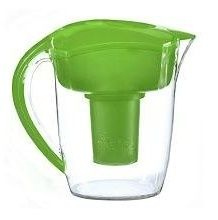 The Santevia alkaline water pitcher comes in blue, black, white or green which is my favorite.