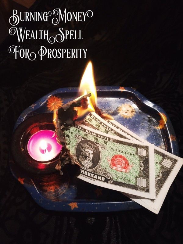 Using money, either torn or burnt, is a popular tactic in many Hoodoo spells. Burning money however is also part of an ancient Chinese tradition which dates back to the 1600s or earlier.