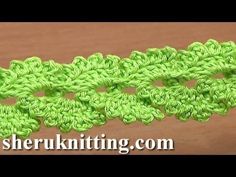 Crochet Lace Braid with Picots Tutorial 14 How to Back Post Single Crochet