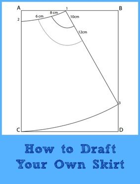 FREE Pattern Drafting Tutorial:  How to make your own skirt pattern! #sewing #fashion