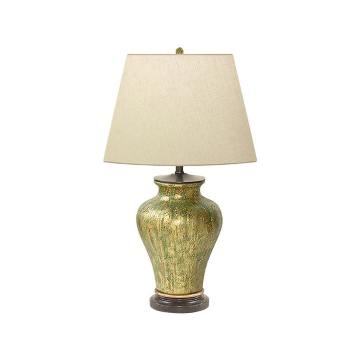 """Beautiful Porcelain Rain Storm Abstract Table Lamp 29"""" with Shade"""