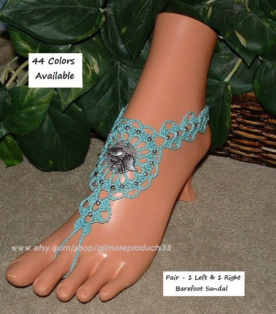 Lovebird Barefoot Sandals Silver Anklet Bird by gilmoreproducts33