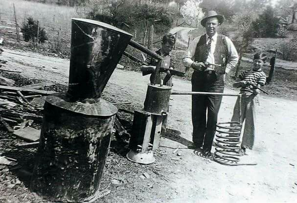 Making moonshine. Big part of Southern heritage.