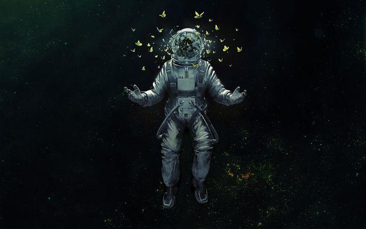 #芸術, #蝶, #スペース, #宇宙飛行士, #宇宙服