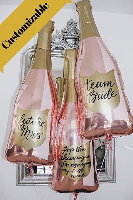 Amazon Paper Confetti Chamapgne Bottle Balloon Rose Gold Party Decorations 21st Birthday Engagement Bachelorette