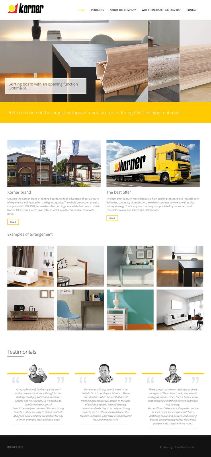 Created by Honki. Website powered by WordPress. Responsive Web Design. #web_design #rwd #responsive_web_design