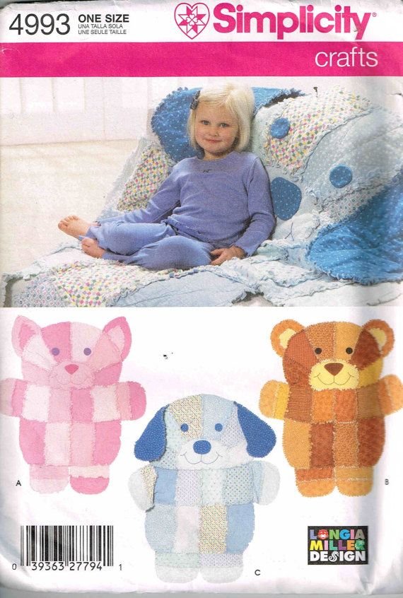 18 best images about rag quilt and rugs diy on pinterest for Simplicity craft pattern 4993