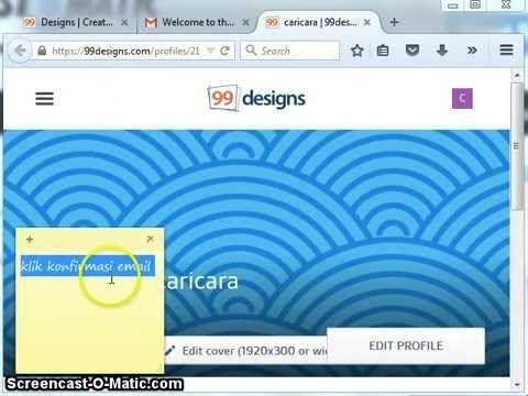 cara ikutan kontes designs di 99designs