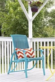 chair spray paint blue