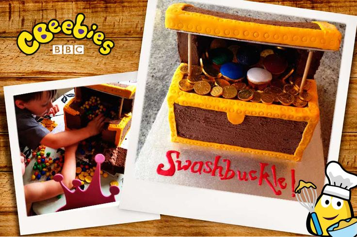 Swashbuckle cheer for this amazing piñata treasure chest cake! CBeebies and Great British Bake Off finalist Richard Burr have teamed up to create these treasures for your kids' birthday parties. Ah harrr!