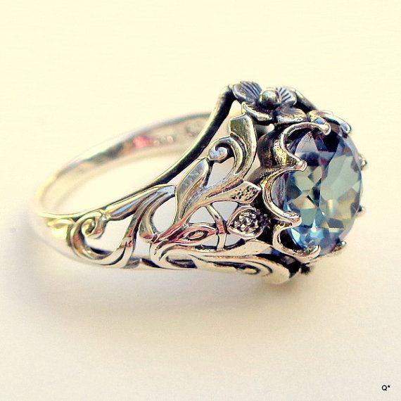 Alexandrit Ring Sterling 925er Silber Ring Farbe v…