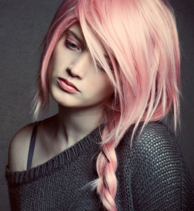Нежно розовый цвет волос - http://popricheskam.ru/100-nezhno-rozovyj-cvet-volos.html. #прически #стрижки #тренды2017 #мода #волосы