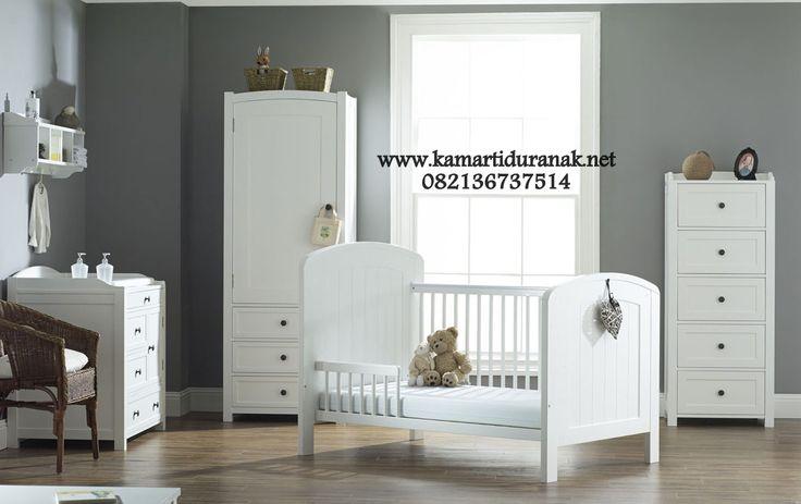 Desain Set Kamar Bayi Putih Minimalis Kontemporer