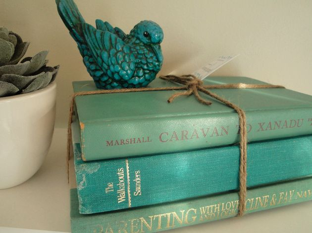 books and bird.