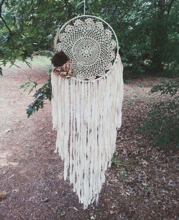 Hey, I found this really awesome Etsy listing at https://www.etsy.com/listing/469163167/bohochic-large-doily-dream-catcher
