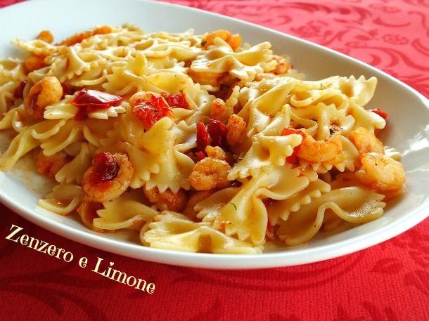 pasta peperoni gamberetti