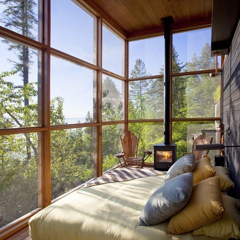 Sleeping Porch, Flathead Lake, Montana photo via lauren (My kind of bedroom)