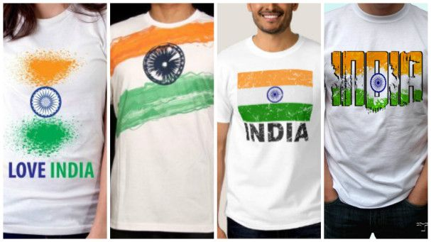 Indian flag print tshits for man and women
