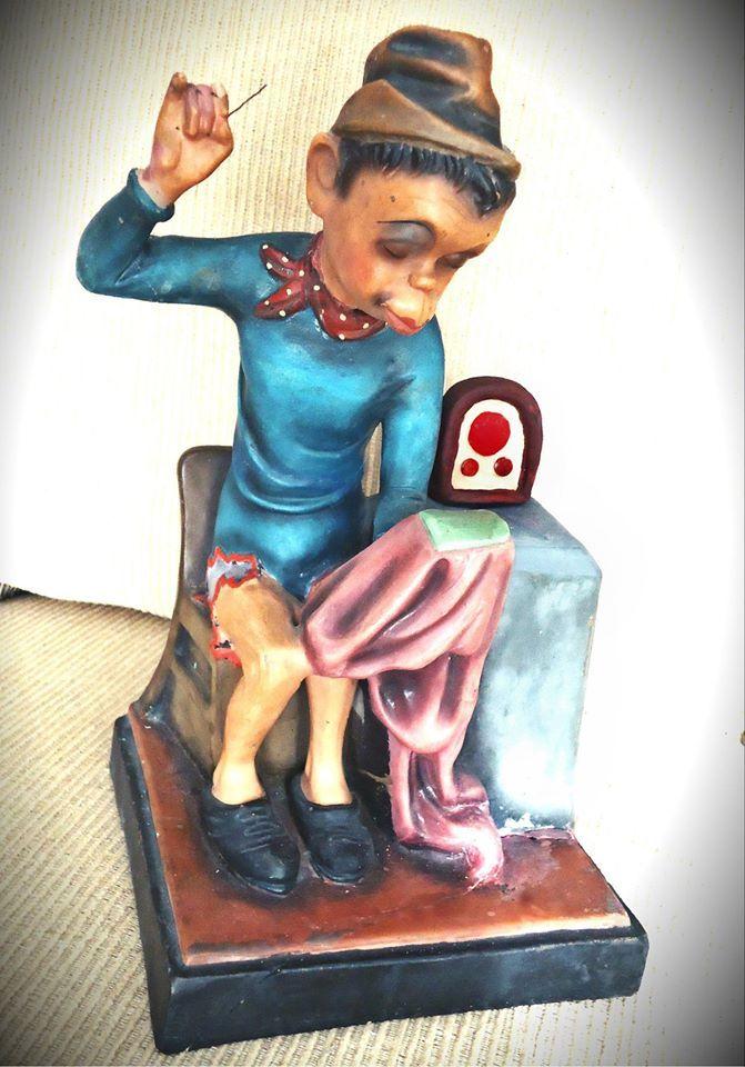 Cantinflas Muñeco, estatua figura Mario Moreno Cantinflas vintage Show