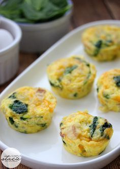 Spinach & Cheese Egg Muffins via @Stacie Vaughan {SimplyStacie.net}