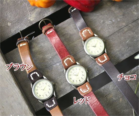 Rakuten: It is / free shipping / men / Ladys / Rakuten /10P02jun13 two vintage wash processing leather stitch bracelet wristwatchs (bangle, watch) with BOX for exclusive use of HAWKCOMPANY (Hawk Company) (6402)- Shopping Japanese products from Japan