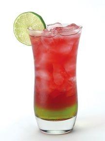 Killer Koolaid (0.5 oz   Cranberry juice    1 oz   Melon liqueur    1 oz   Southern Comfort    0.75 oz )