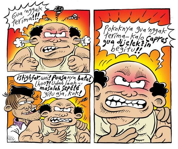 Mice Cartoon, Komik Jakarta: Batal Puasa Gara-Gara Capres