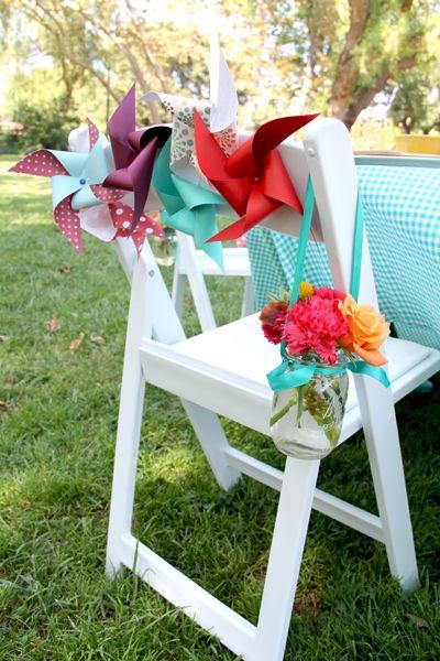 pinwheel chair decor?