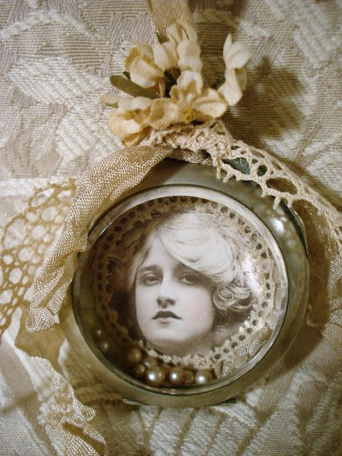 Old pocket watch assemblage filled with vintage pearls