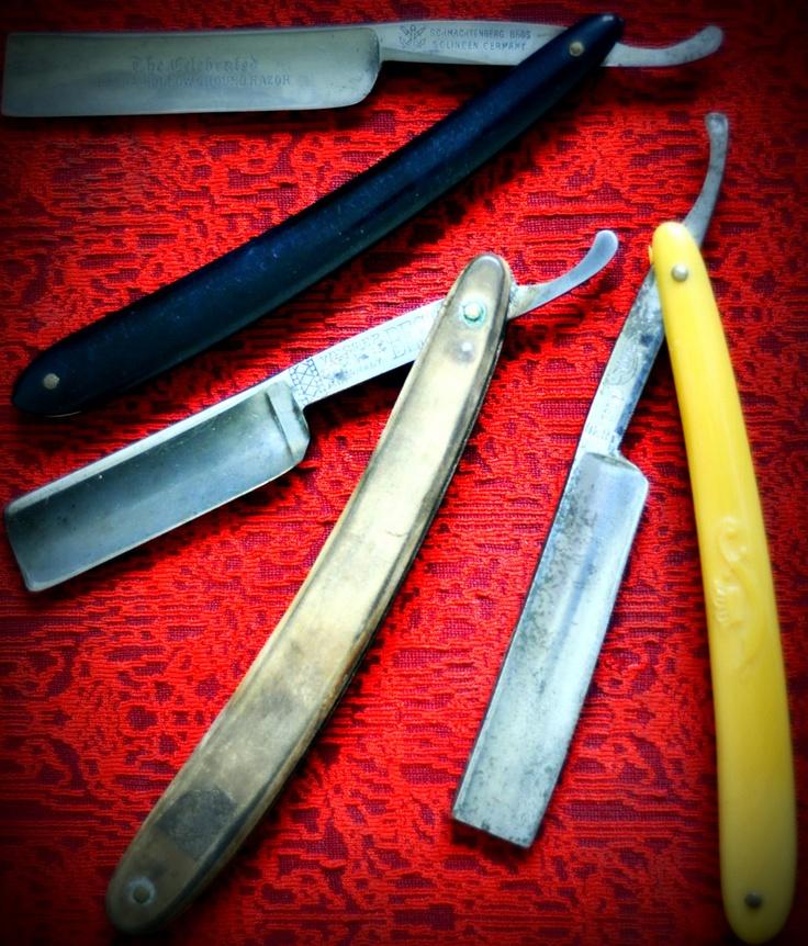 vintage barber blades photograph straight razor wall art home decor barber shop razor blade. Black Bedroom Furniture Sets. Home Design Ideas