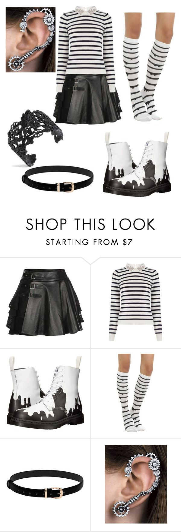 """""""Girl Two face"""" by kayla-allaire on Polyvore featuring Mairi Mcdonald, Oasis and Dr. Martens"""
