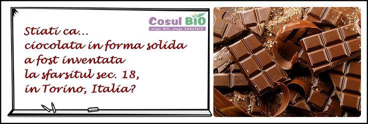 Stiati ca ciocolata in forma solida a fost inventata la sfarsitul sec 18, in Torino, Italia?