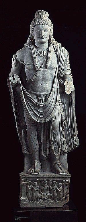 2nd-3rd century, Gandhara, Maitreya, schist, private collection