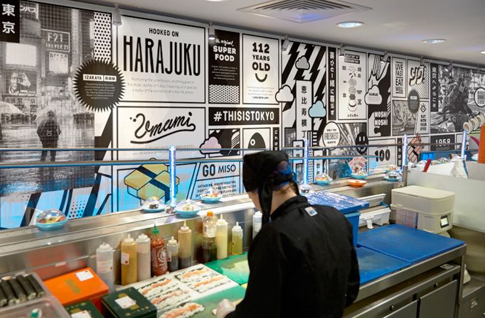 Yo! Sushi Menu by &Smith