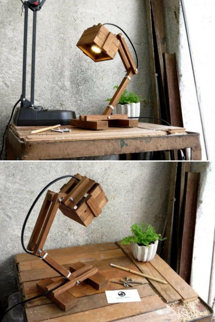 Office wooden diy led desk lamp chandeliers pinterest desk